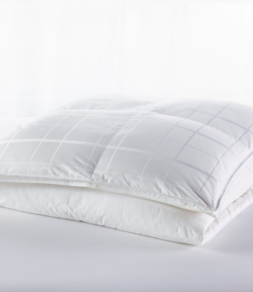 Sateen White Goose Down Comforter Warm