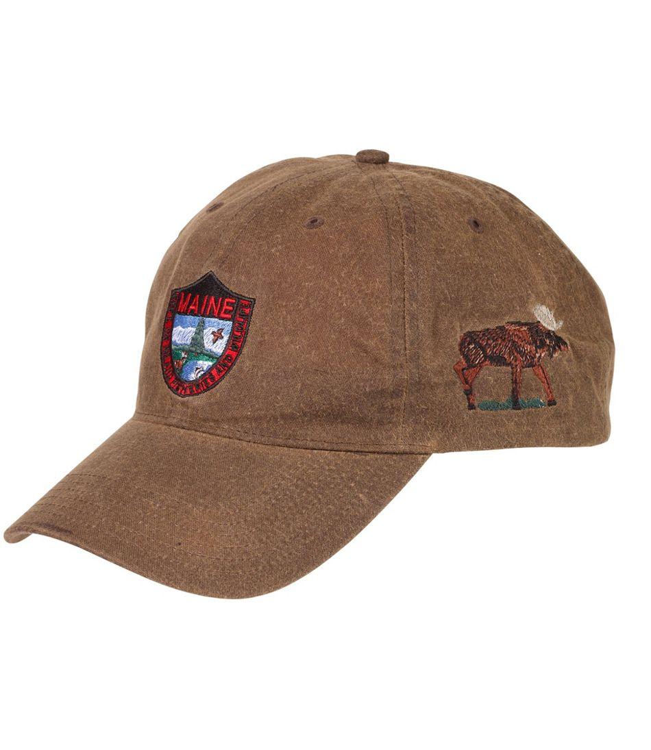 Adults' MIF&W Waxcloth Hat, Moose