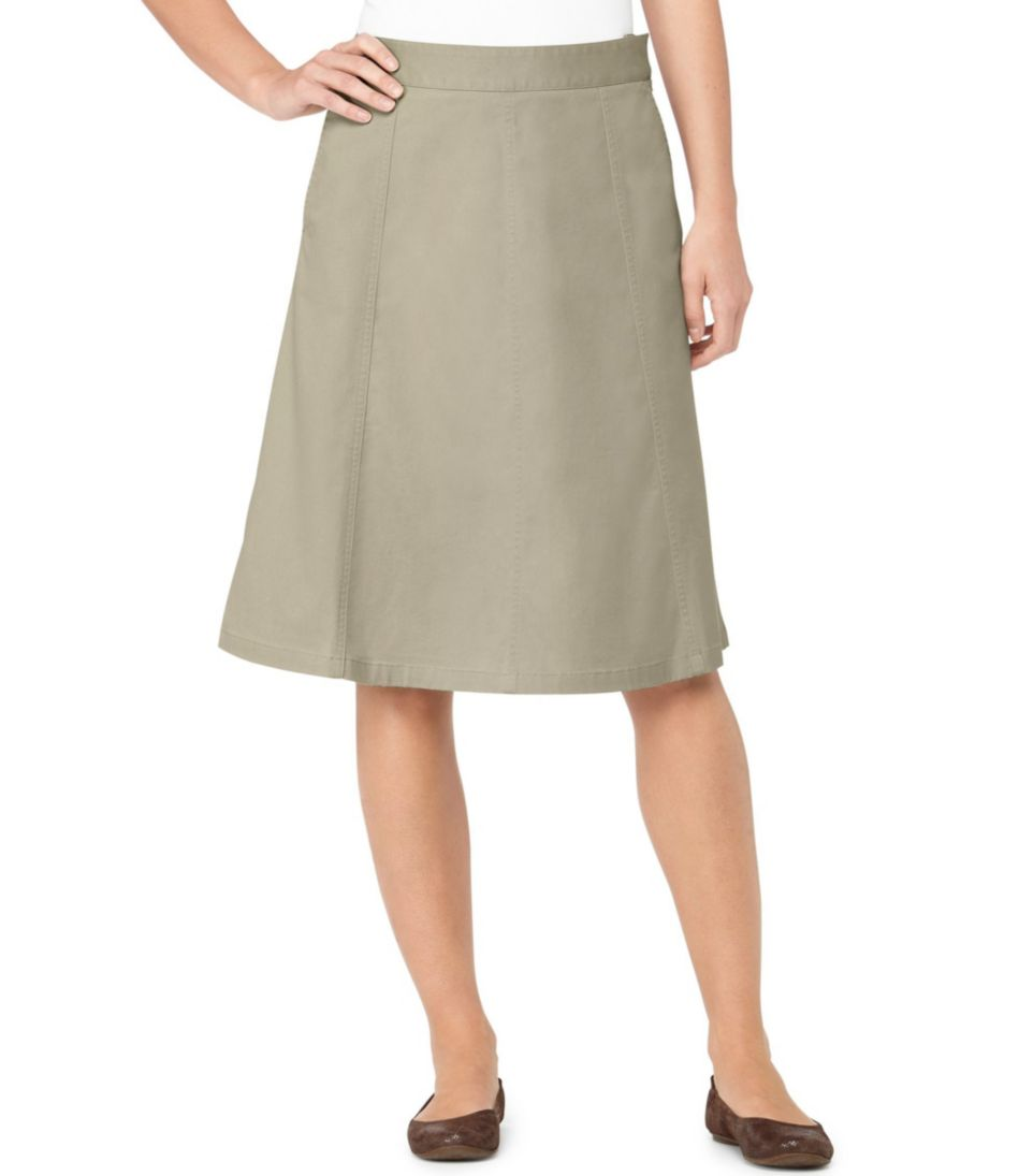 L.L.Bean Gored Skirt, Twill