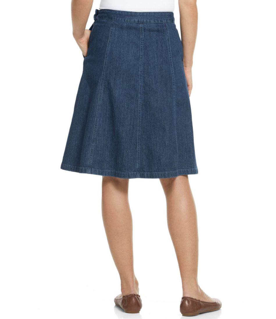 L.L.Bean Gored Skirt, Denim