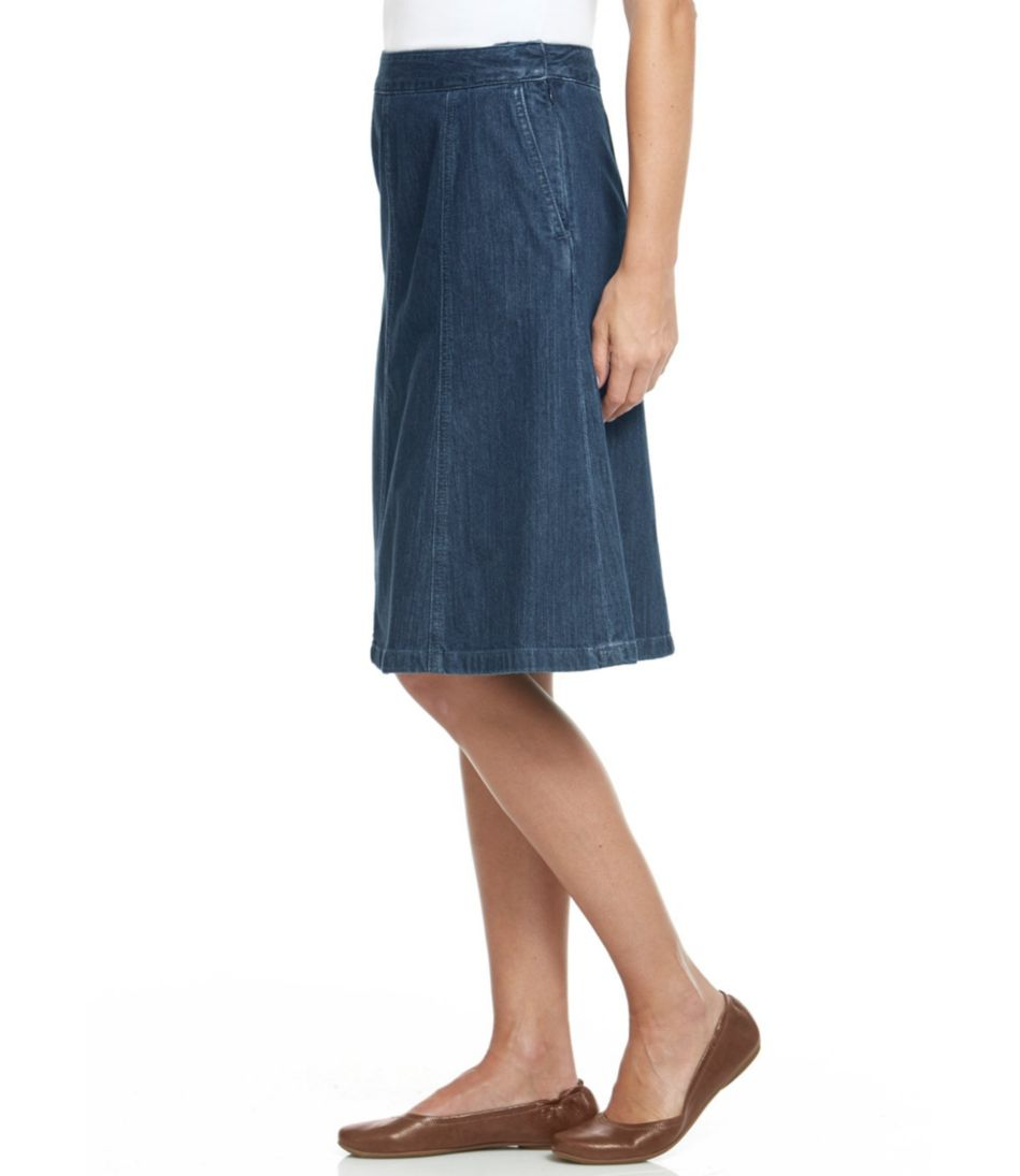 L.L.Bean Gored Skirt, Denim