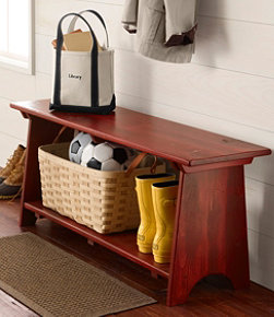 Rustic Wooden Mudroom Bench, Large
