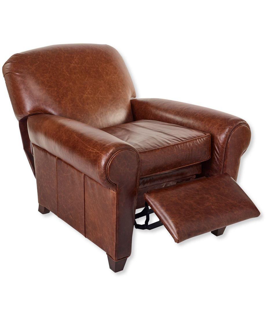 L.L.Bean Leather Lodge Recliner