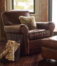 L.L.Bean Leather Lodge Recliner