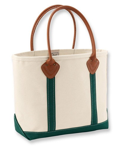 Leather Handle Boat And Tote Free Shipping At L L Bean