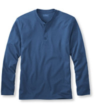 Pima Henley, Traditional Fit Long-Sleeve