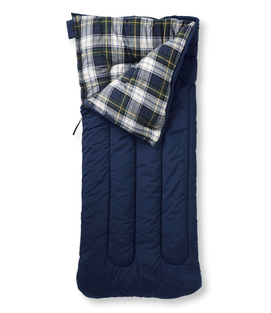 Camp Sleeping Bag, Flannel-Lined 40°