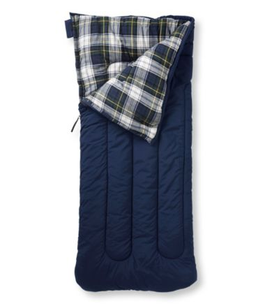 Camp Sleeping Bag, Flannel-Lined 20°