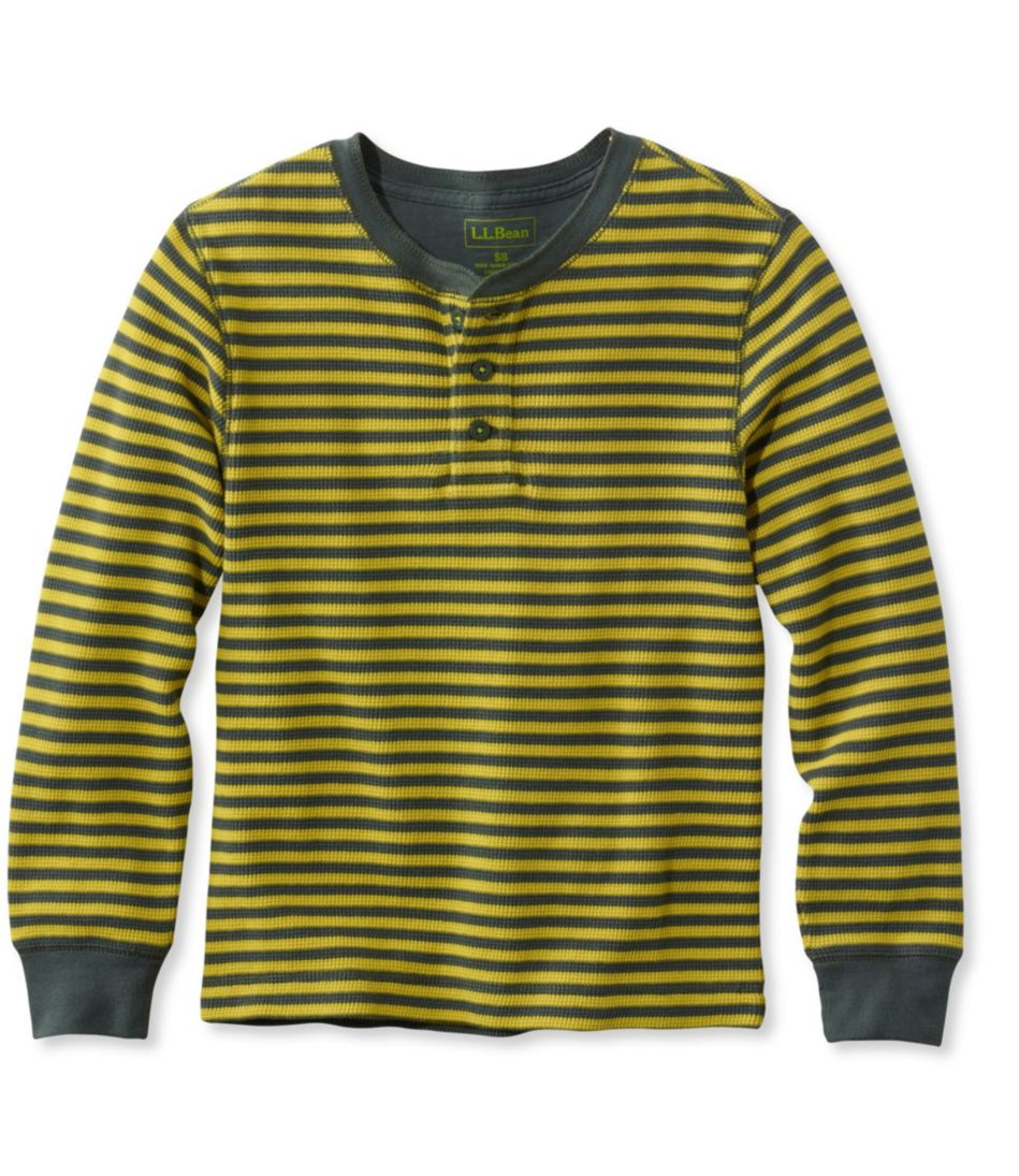 Boys' Mini-Waffle Henley, Stripe