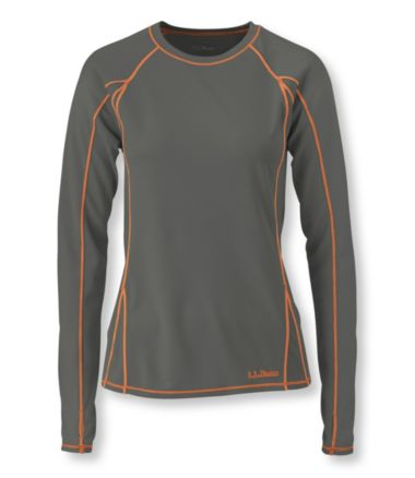 Polartec Power Dry Stretch Base Layer, Lightweight Long-Sleeve Crew