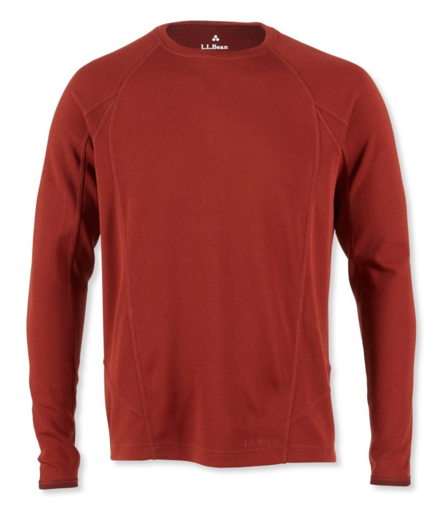 photo: L.L.Bean Men's Power Dry Stretch Base Layer, Midweight Long-Sleeve Crew