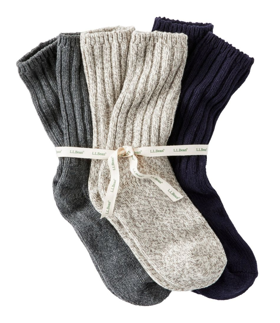 "Adults' Wool Ragg Sock Gift Set, 10"" Three-Pack"
