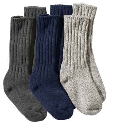 "Adults' Wool Ragg Sock Gift Set, 10"" Three-Pack"