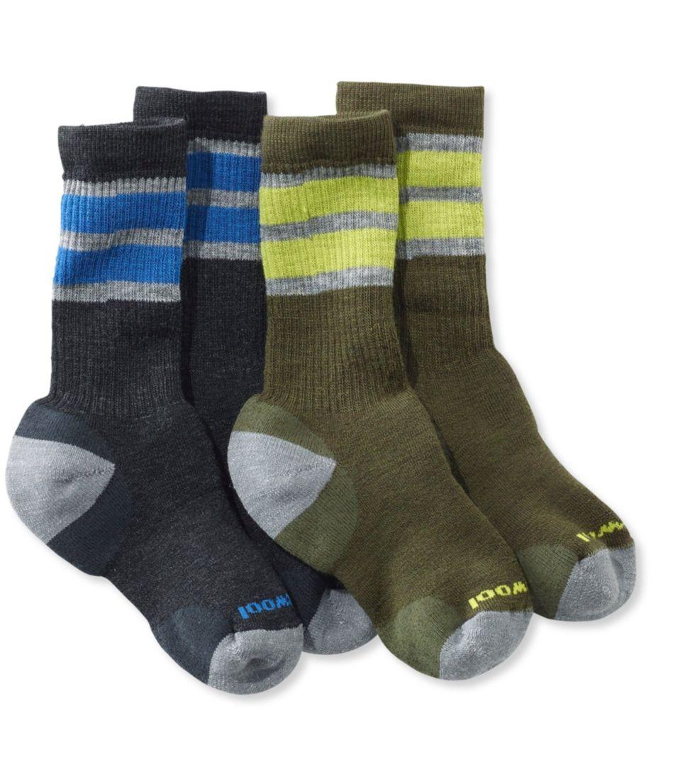 Kids' SmartWool Hiking Socks, Stripe Two-Pack