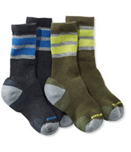 Kids' SmartWool Hiking Socks, Stripe Two-Pack