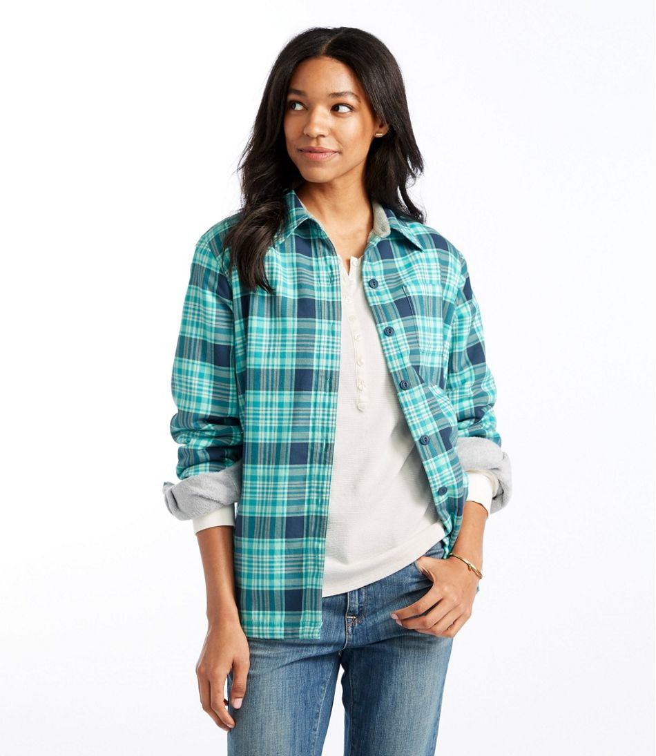 Women's Fleece-Lined Flannel Shirt