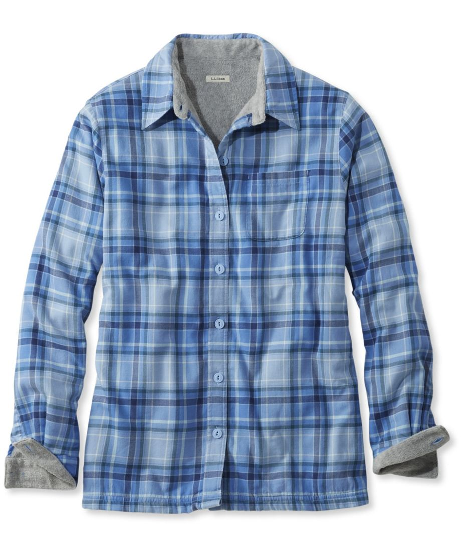Women\'s Fleece-Lined Flannel Shirt