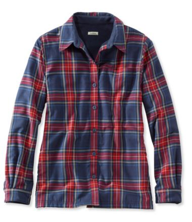 Fleece-Lined Flannel Shirt