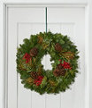 """Woodland Canella Berry Wreath 24"""", One Color, small image number 0"""