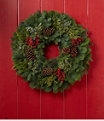 """Woodland Canella Berry Wreath 24"""", One Color, small image number 1"""