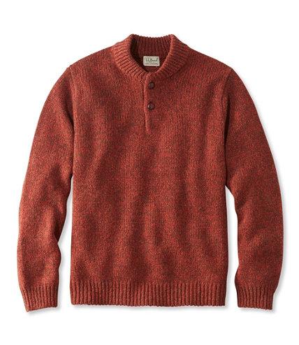 L L Bean Classic Ragg Wool Sweater Henley Free Shipping At L L Bean