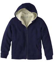 Sherpa Fleece-Lined Sweater, Hoodie