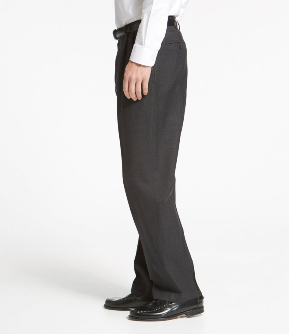 Washable Year-Round Wool Pants, Classic Fit Pleated