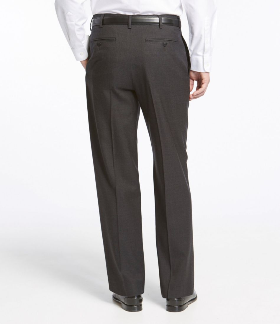 Washable Year-Round Wool Pants, Classic Fit Plain Front