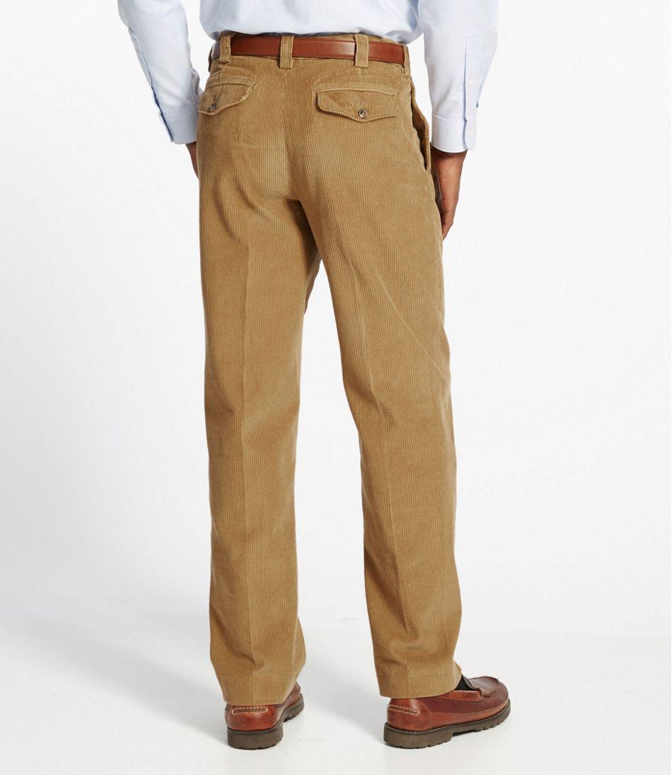 Men's Country Corduroy Pants, Classic Fit Plain Front