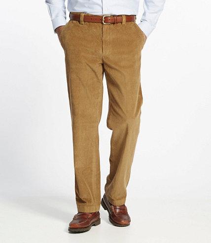 Men's Country Corduroy Trousers, Hidden Comfort Waist Plain Front ...