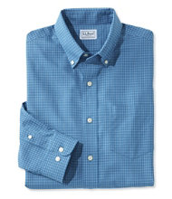 Men's Wrinkle-Free Mini-Check Shirt, Traditional Fit