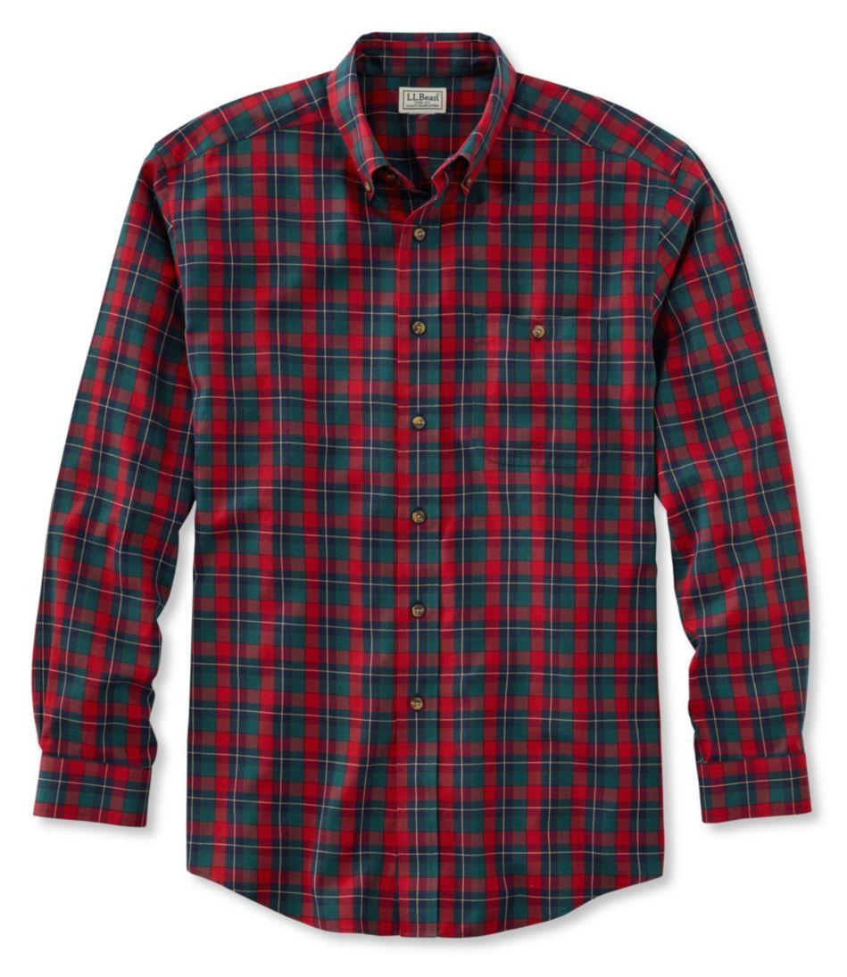 Cotton/Merino Sport Shirt, Traditional Fit