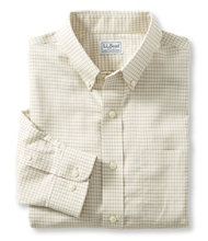 Wrinkle-Free Mini-Check Shirt, Slightly Fitted