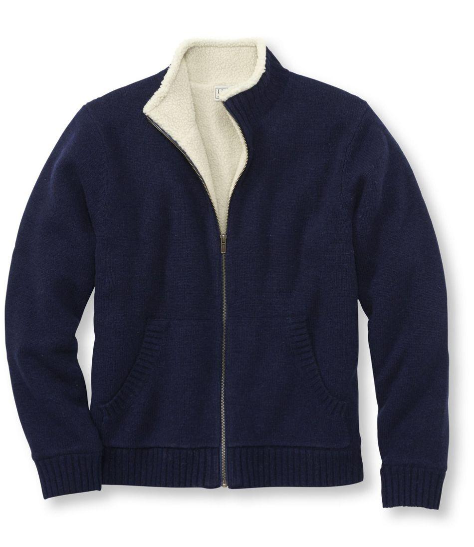 Sherpa Fleece Lined Sweater Full Zip