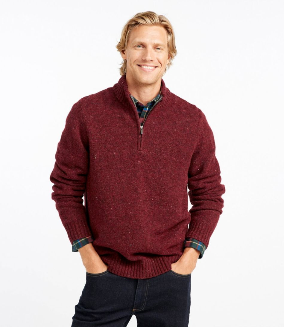 Shetland Wool Sweater, Quarter-Zip