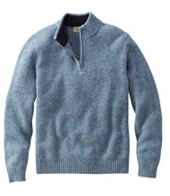 Shetland Wool Sweater, Quarter-Zip