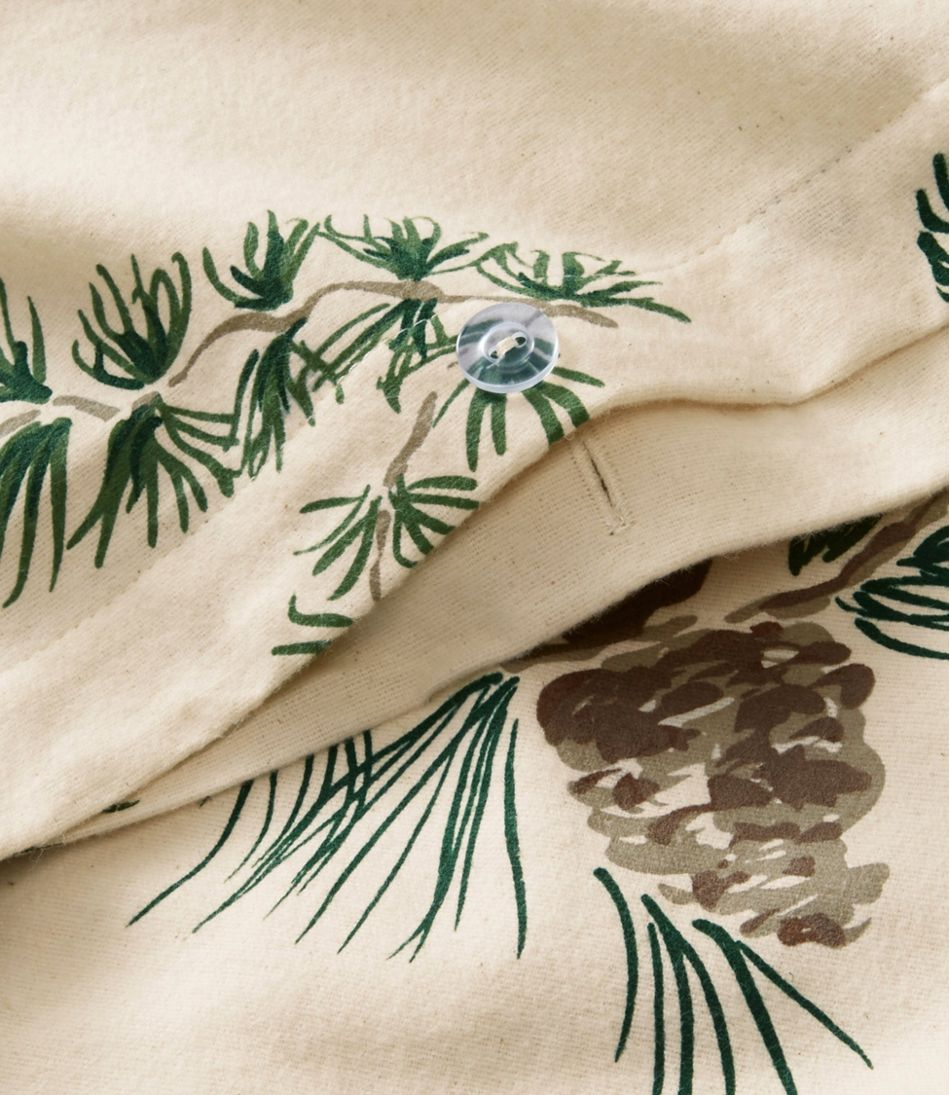 Ultrasoft Comfort Flannel Comforter Cover Collection, Evergreen