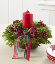 Tartan Christmas Fir Centerpiece