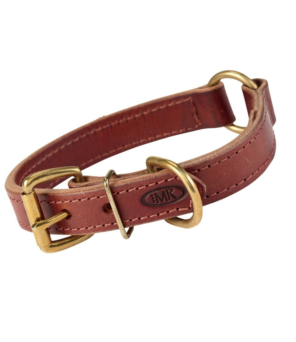 Boyt High Prairie Leather Dog Collar with Safety Ring