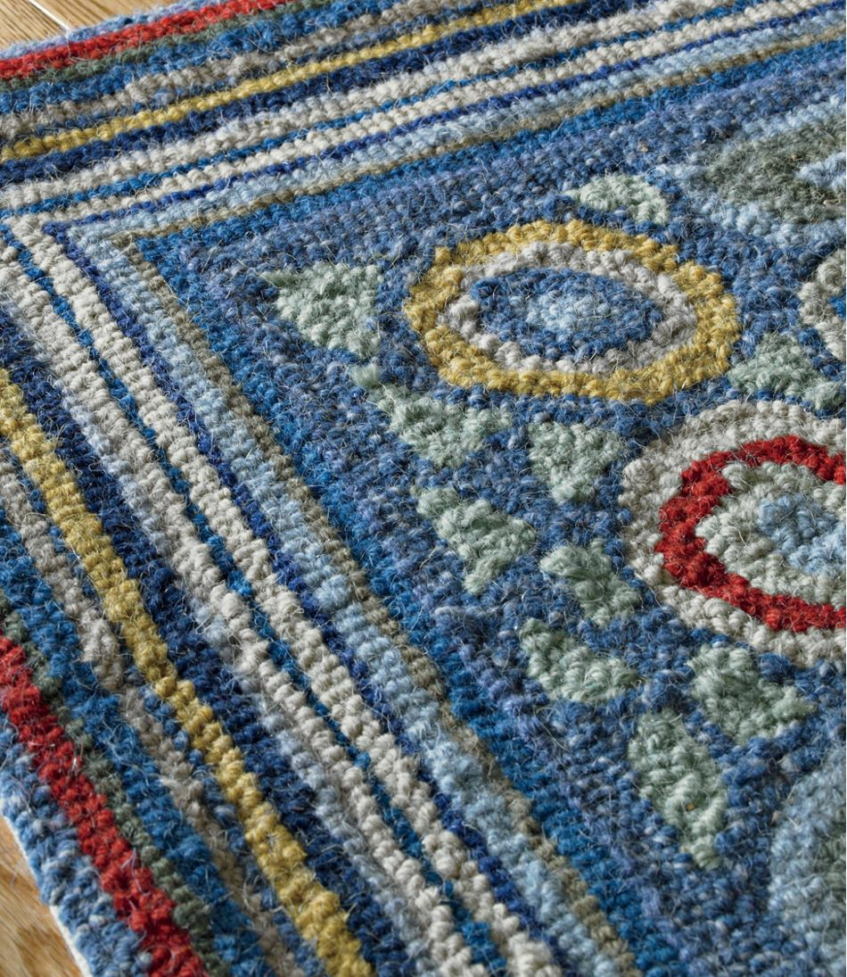 Wool Hooked Rug, Coins