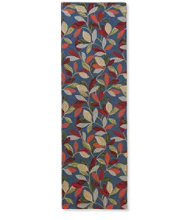 Wool Hooked Runner, Woodland Leaves
