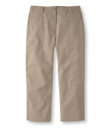 Wrinkle-Free Bayside Twill Pants, Cropped Classic Fit Hidden Comfort Waist