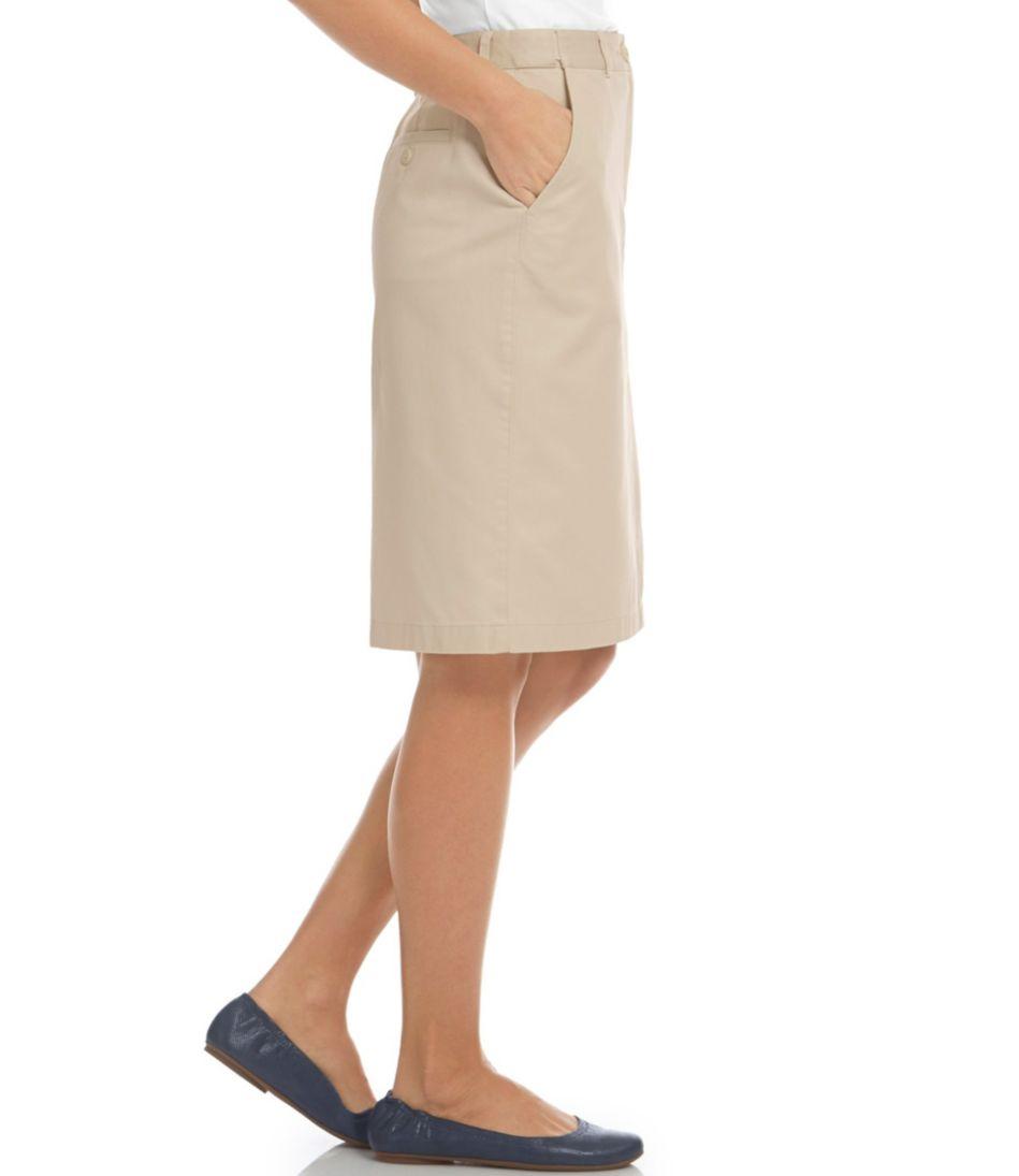 Wrinkle-Free Bayside Skirt, Classic Fit Hidden Comfort Waist