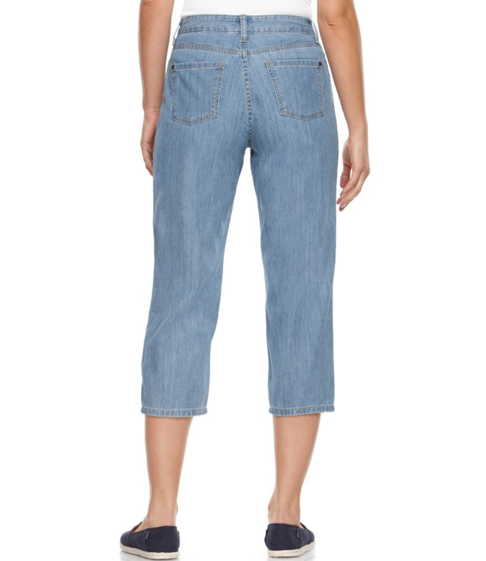 Lightweight Denim Cropped Jeans