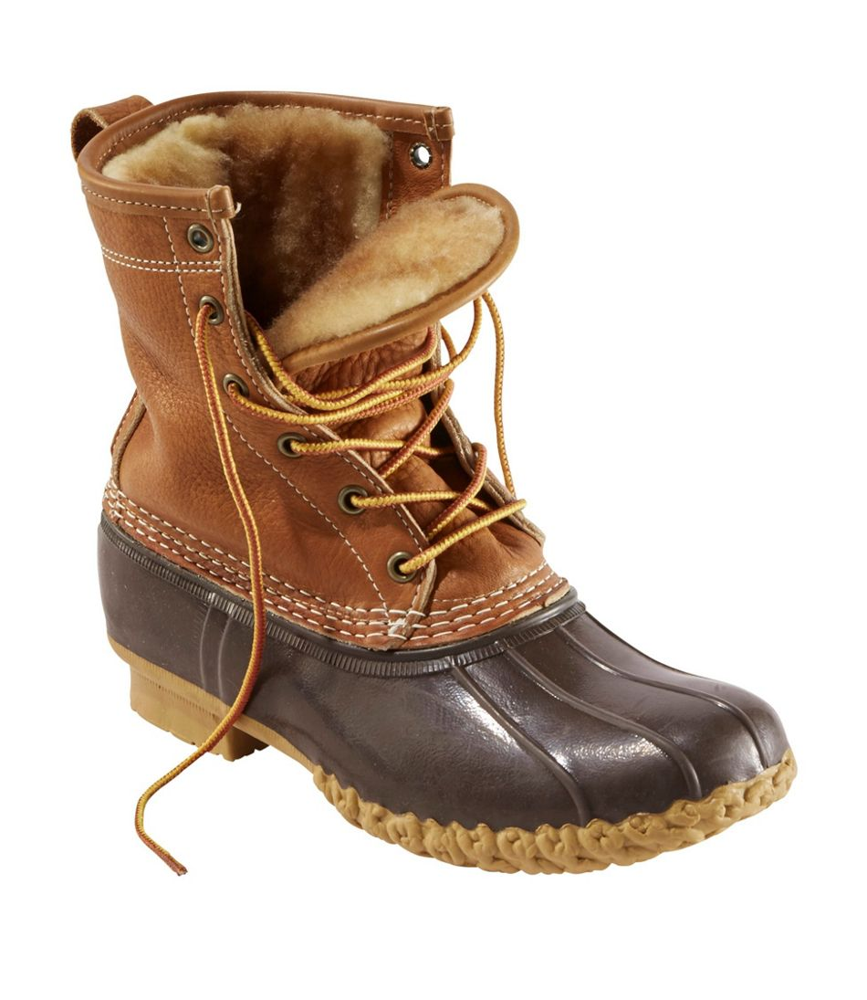 "Women's Bean Boots, 8"" Shearling-Lined PrimaLoft"