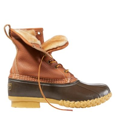 "Women's Bean Boots by L.L.Bean®, 8"" Tumbled-Leather Shearling-Lined"