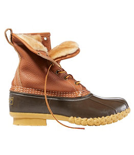 "Women's Bean Boots, 8"" Tumbled-Leather Shearling-Lined"
