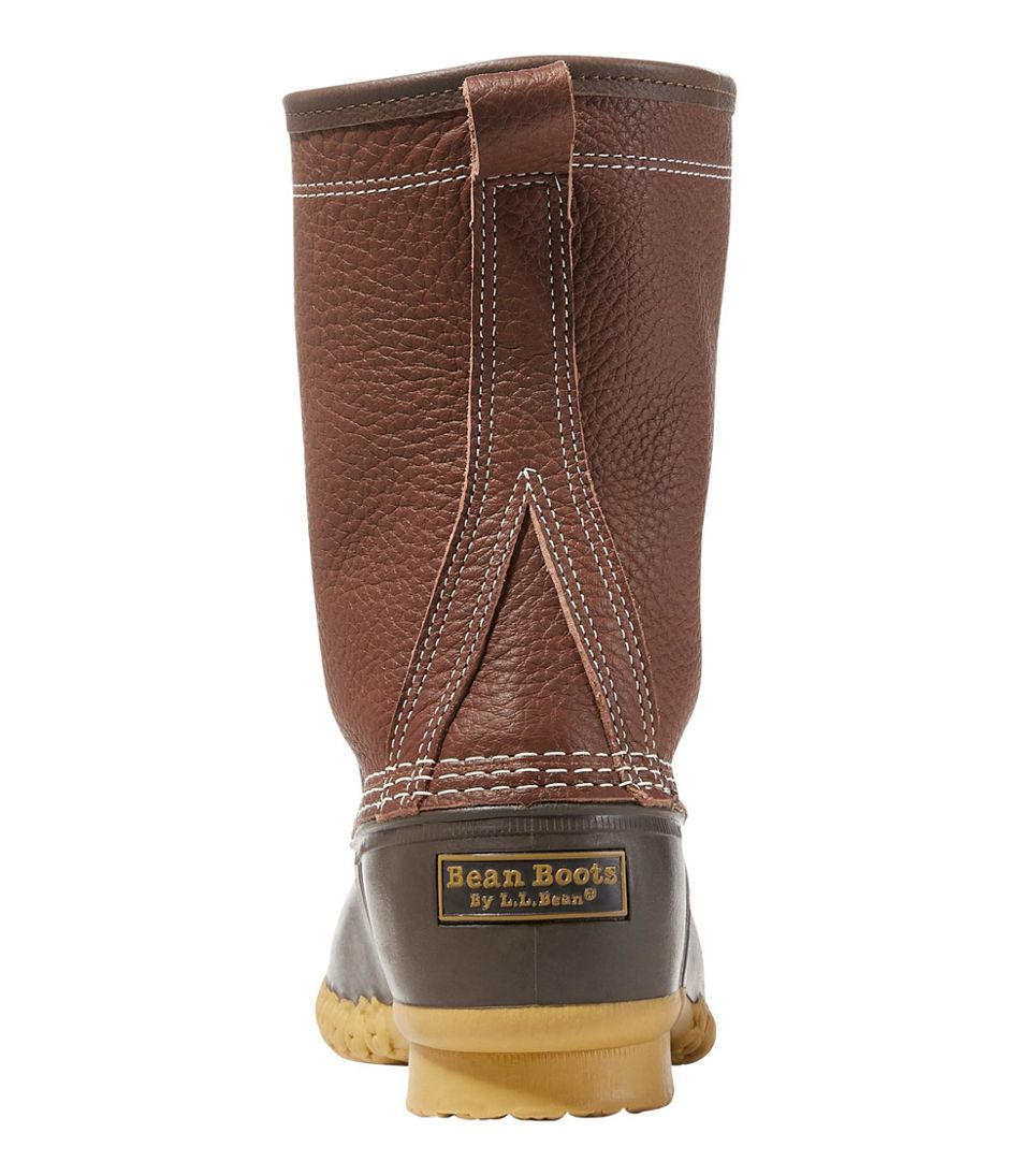 "Men's Bean Boots by L.L.Bean®, 10"" Tumbled-Leather Shearling-Lined"