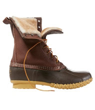 "Men's L.L.Bean Boots, 10"" Tumbled-Leather Shearling-Lined"