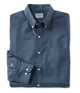 Men's Wrinkle-Free Check Shirt, Slightly Fitted